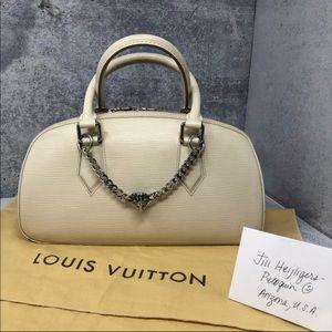 Authentic Classic Louis Vuitton Ivory Epi Jasmin
